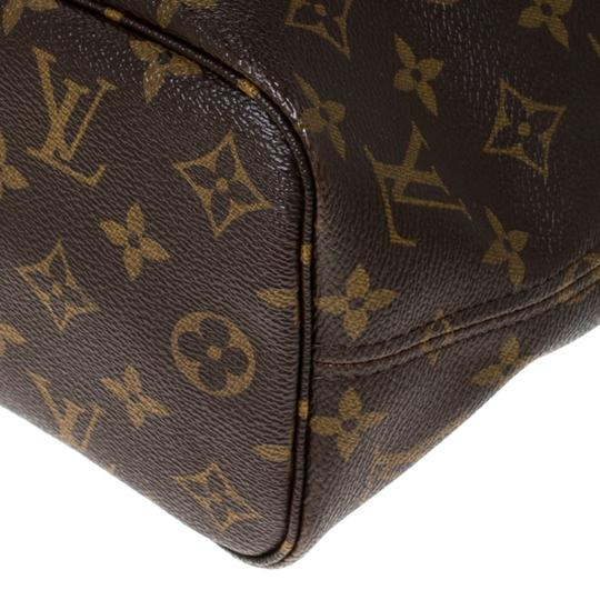 Louis Vuitton Monogram Canvas Coated Canvas Tote in Brown Image 9