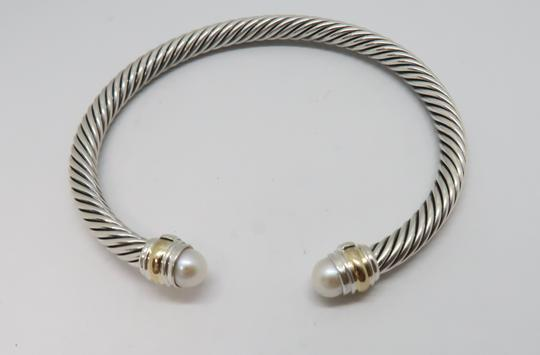 David Yurman 5mm cable bracelet with gold trim Medium size Image 1