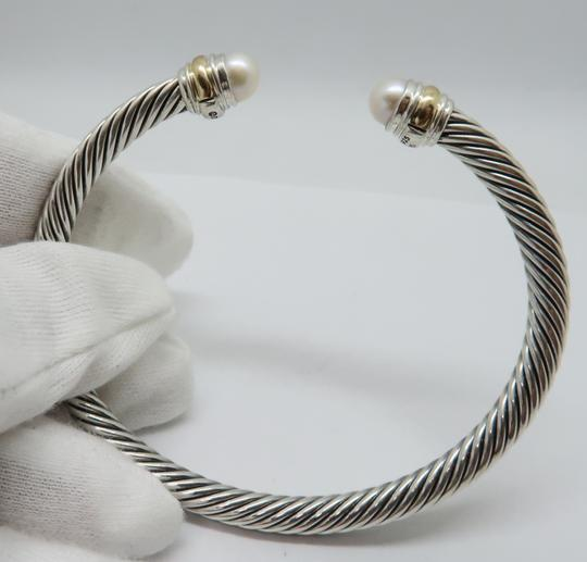 David Yurman 5mm cable bracelet with gold trim Medium size Image 3