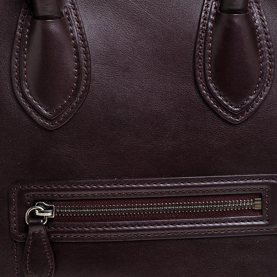 Céline Leather Tote in Burgundy Image 10