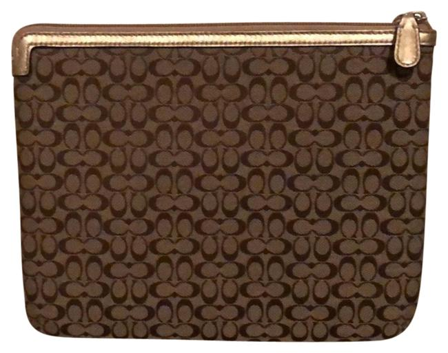 Item - Gold Tablet Travel Case Cosmetic Bag