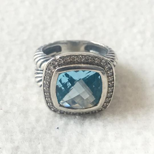 David Yurman Albion Ring with Blue Topaz and Diamonds, 11mm Image 3