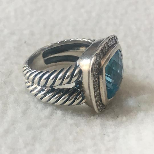 David Yurman Albion Ring with Blue Topaz and Diamonds, 11mm Image 4