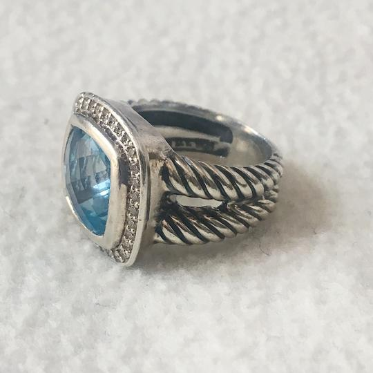 David Yurman Albion Ring with Blue Topaz and Diamonds, 11mm Image 5