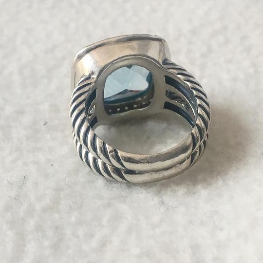 David Yurman Albion Ring with Blue Topaz and Diamonds, 11mm Image 6