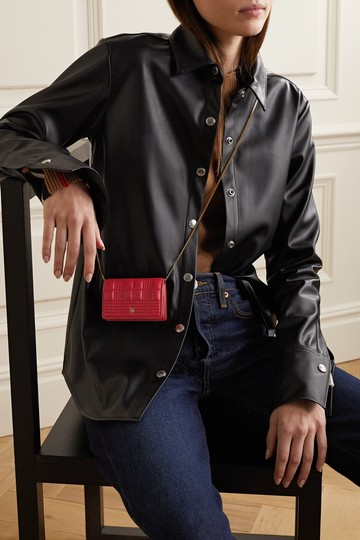Burberry Quilted leather chain cardholder Image 1