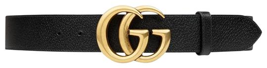 Preload https://item3.tradesy.com/images/gucci-black-marmont-new-double-g-grained-gold-hw-95-cm-belt-26447912-0-2.jpg?width=440&height=440