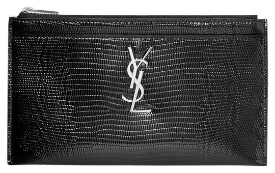 Preload https://img-static.tradesy.com/item/26447944/saint-laurent-black-monogram-bill-pouch-in-reptile-embossed-patent-leather-wallet-0-2-540-540.jpg