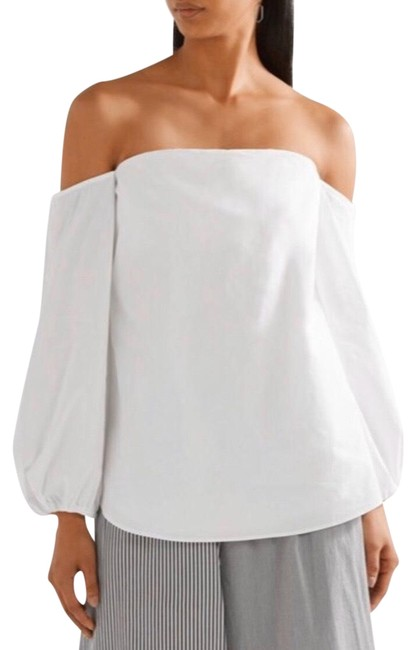 Preload https://img-static.tradesy.com/item/26447957/theory-white-laureema-off-the-shoulder-light-poplin-blouse-size-4-s-0-2-650-650.jpg