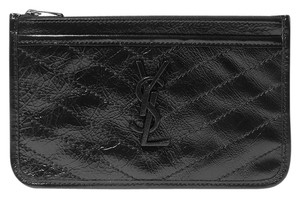 Saint Laurent NIKI BILL POUCH IN CRINKLED VINTAGE LEATHER