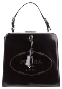 Prada The Devil Wears Spazzolato Leather Frame Handle Meryl Streep Shoulder Bag