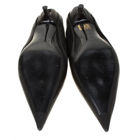 Balenciaga Leather Pointed Toe Black Sandals Image 4
