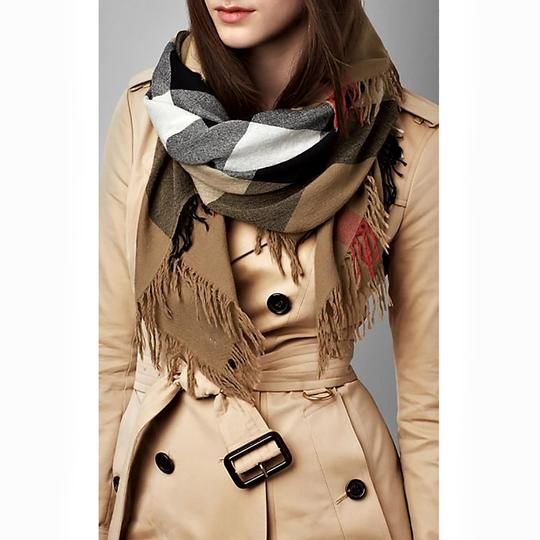 Burberry Burberry House Check Color Wool Square Scarf/Wrap Image 1
