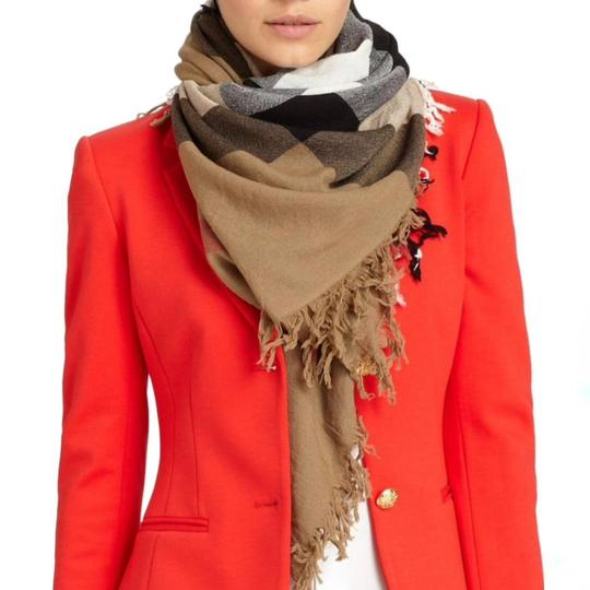 Burberry Burberry House Check Color Wool Square Scarf/Wrap Image 3