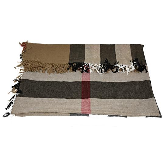 Burberry Burberry House Check Color Wool Square Scarf/Wrap Image 5