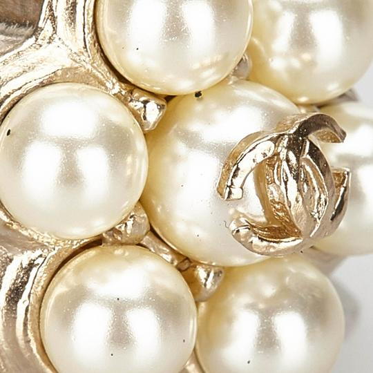 Chanel Chanel Metal CC Faux Pearl Ring Image 3