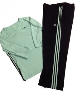 Preload https://item5.tradesy.com/images/adidas-black-and-mint-green-exercise-outfit-activewear-sportswear-size-12-l-32-33-26449-0-0.jpg?width=400&height=650