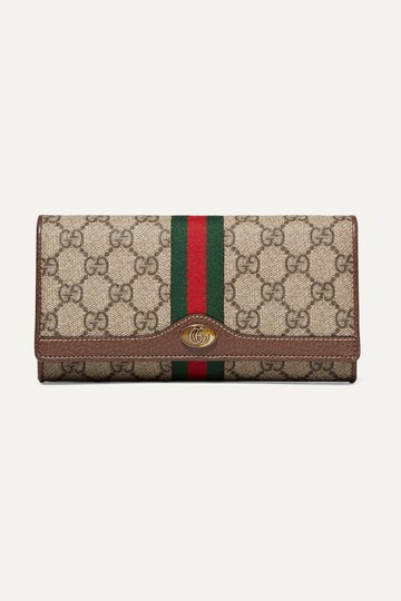 Gucci Chain Wallet New Ophidia Web Beige Ebony Gg Supreme Canvas Cross Body Image 7