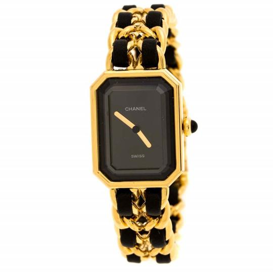 Preload https://img-static.tradesy.com/item/26449092/chanel-black-gold-plated-stainless-steel-premiere-women-s-wristwatch-20-mm-watch-0-0-540-540.jpg
