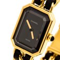 Chanel Black Gold Plated Stainless Steel Premiere Women's Wristwatch 20 mm Image 1