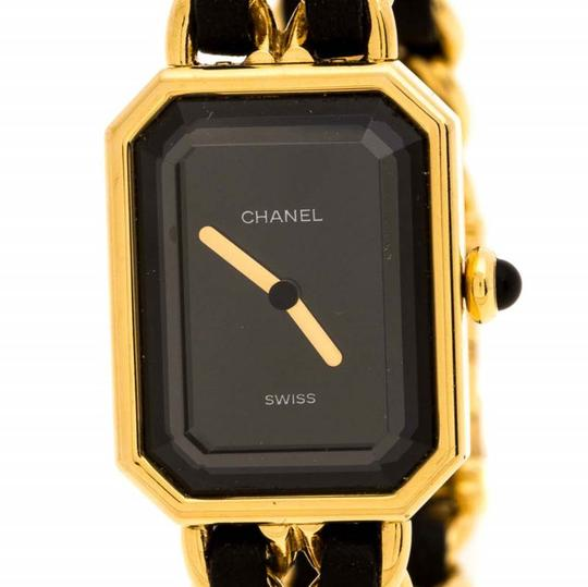 Chanel Black Gold Plated Stainless Steel Premiere Women's Wristwatch 20 mm Image 2