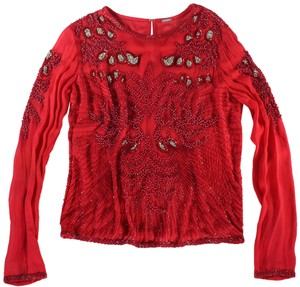 DODO BAR OR Beaded Embellished Top Red