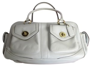 Coach Leather Rare White Classic Satchel in White (Rare)
