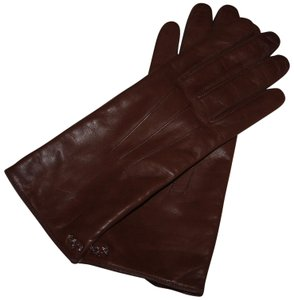 Coach Coach Leather Basic glove pine brown women's 8