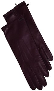 Coach Coach Leather Basic glove iris women's 7.5