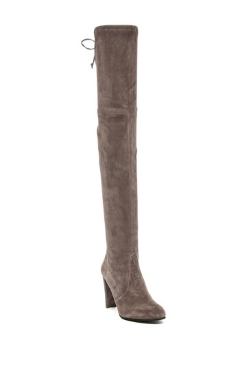 Stuart Weitzman Sw Highland Over The Knee Grey Topsue Boots Image 5