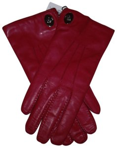 Coach Coach Leather turn lock glove iris Women's size 8