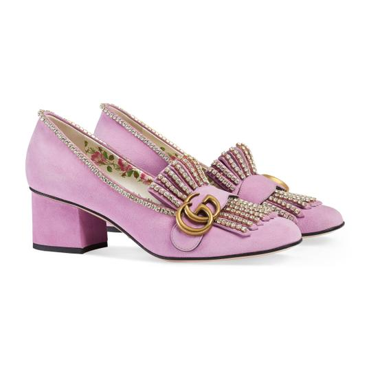 Preload https://img-static.tradesy.com/item/26449988/gucci-pink-marmont-fringed-logo-and-crystal-embellished-suede-pumps-size-us-10-regular-m-b-0-0-540-540.jpg