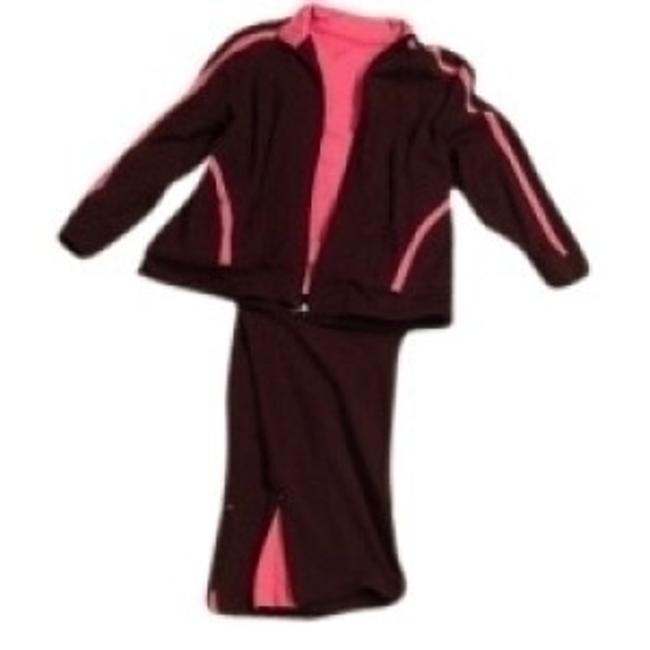 Preload https://item1.tradesy.com/images/talbots-chocolate-brown-hot-pink-three-piece-exercise-wear-activewear-sportswear-size-14-l-34-26450-0-0.jpg?width=400&height=650