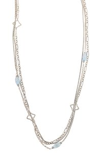 David Yurman Bijoux Blue Topaz Quatrefoil Chain Necklace