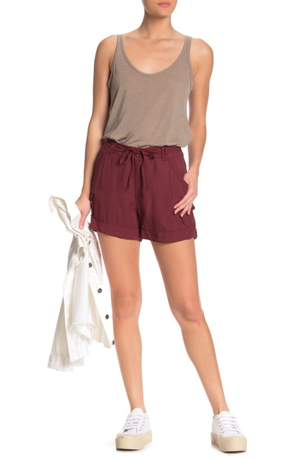 Item - Burgundy Solid High Waisted Utility Shorts Size 12 (L, 32, 33)