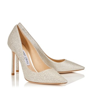 Jimmy Choo Romy Silver Gold Platinum Ice Dusty Glitter Pumps
