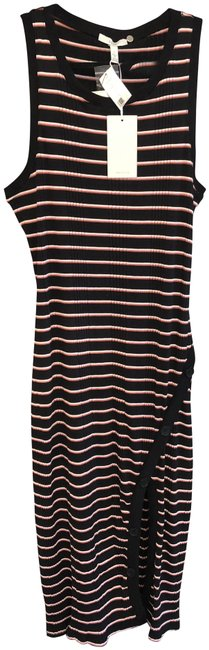 Item - Black/Multi-color Sleeveless Striped Style#19-2-005461-dr01929 Long Casual Maxi Dress Size 12 (L)