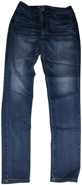 Item - Blue Denim Dark Rinse Super Stretch Skinny Jeans Size 8 (M, 29, 30)