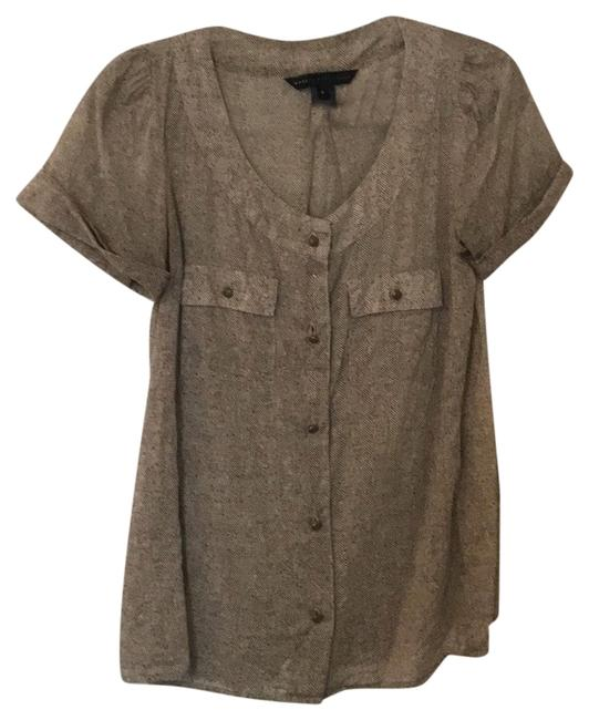 Marc Jacobs Olive Cute By Top. Semi-sheer Light Linen Feel. Button-down Top Size 4 (S) Marc Jacobs Olive Cute By Top. Semi-sheer Light Linen Feel. Button-down Top Size 4 (S) Image 1