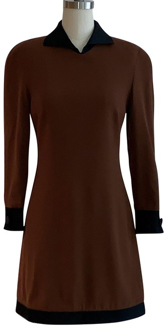 Item - Brown Vintage 80s Short Casual Dress Size 2 (XS)