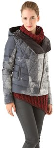 Helmut Lang Down Hooded Puffer Quilted Coat