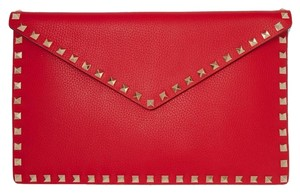 Valentino Rockstud Leather Pouch Women Pouch Clutch