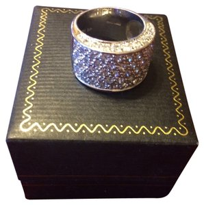 Other cigar band cz sterling silver ring