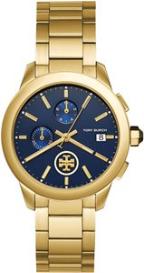 Tory Burch Black-friday-sale Collins Gold/Navy Chronograph Watch