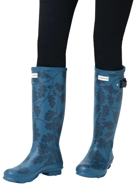 Item - Blue National Trust Print Norris Field Boots/Booties Size US 6 Extra Wide (Ww, Ee)