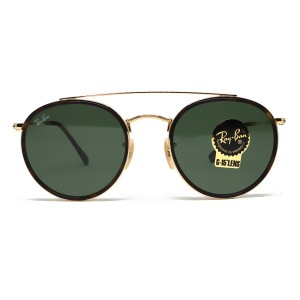 Ray-Ban RAY BAN RB3647N GOLD METAL GREEN CLASSIC LENS SUNGLASSES
