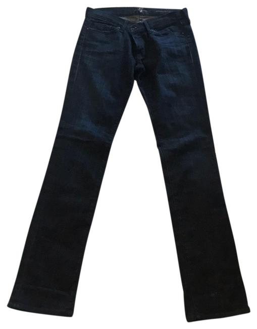 "Item - Blue Deep Indigo Seven Not Stretchy/ Fit. 43"" Straight Leg Jeans Size 4 (S, 27)"