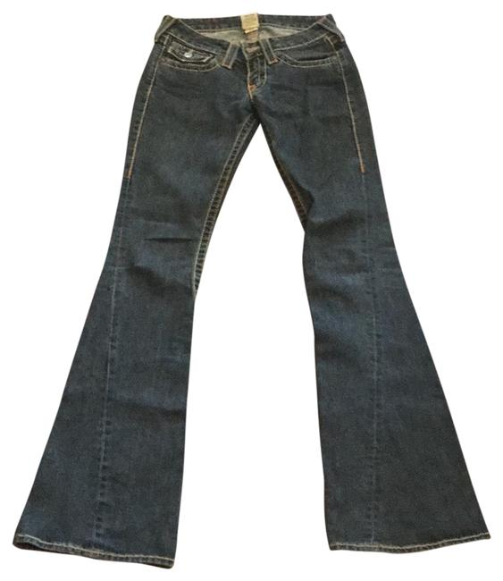 """True Religion Faded Black Bellbottom Washed Excellent Condition. 14"""" Waist. 33"""" Inseam. Flare Leg Jeans Size 0 (XS, 25) True Religion Faded Black Bellbottom Washed Excellent Condition. 14"""" Waist. 33"""" Inseam. Flare Leg Jeans Size 0 (XS, 25) Image 1"""