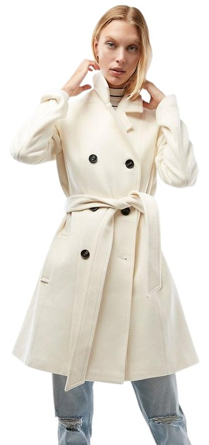 Item - Ivory Blend Belted Trench Coat Size 2 (XS)