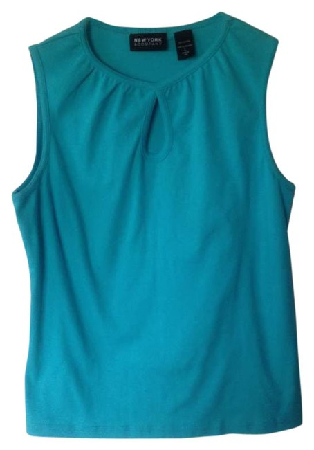 Preload https://img-static.tradesy.com/item/264532/new-york-and-company-turquoise-tank-topcami-size-14-l-0-0-650-650.jpg